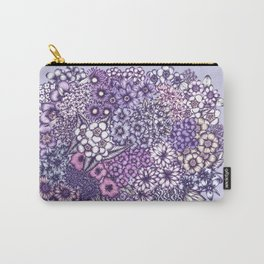 Faded Blossoms Carry-All Pouch