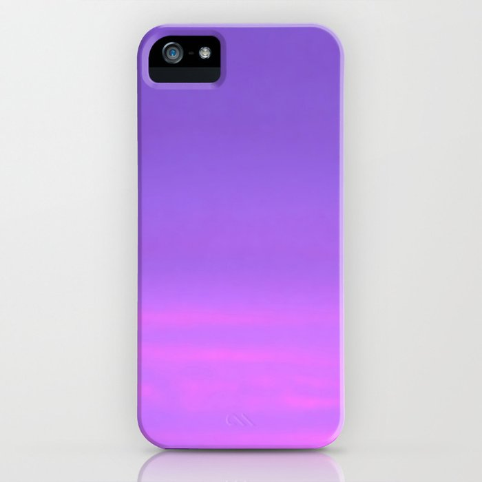 Pink and purple sky a winter morning iPhone Case