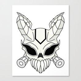 Corrupt Chaos Skull Canvas Print