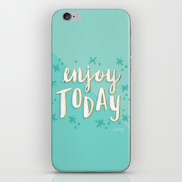 Enjoy Today – Mint & Gold Palette iPhone Skin