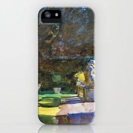 "John Singer Sargent ""Villa di Marlia, Lucca"" iPhone Case"