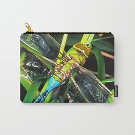 Blue Dragonfly Wings Carry-All Pouch