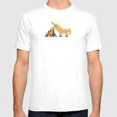 unicorn White MEDIUM Mens Fitted Tee
