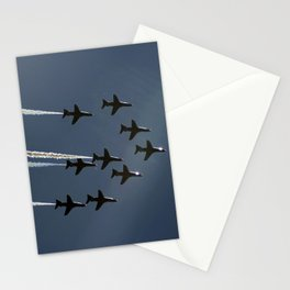 The Red Arrows flying in formation Stationery Cards