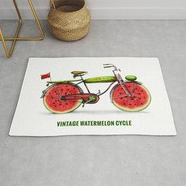 ORGANIC INVENTIONS SERIES: Vintage Watermelon Bicycle Rug