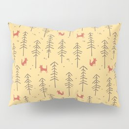 Fox hiding in the forest Pillow Sham