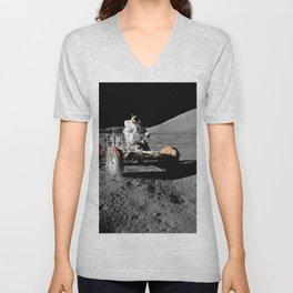 Apollo 17 - Moon Buggy Unisex V-Neck