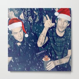 Larry Stylinson Funny Cookie Christmas Metal Print