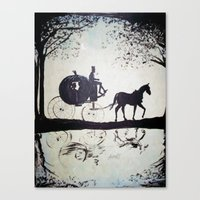 cinderella Canvas Prints featuring Cinderella  by Lamont Powell
