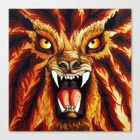 werewolf Canvas Prints featuring Werewolf by BluedarkArt