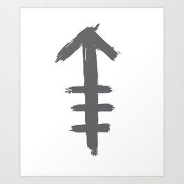 Arrow of chalk Art Print