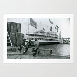 Providence At Newport Dock, Newport, Rhode Island Art Print
