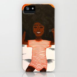 Afro Girl iPhone Case