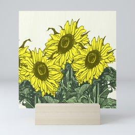 Sunflower sojourn Mini Art Print