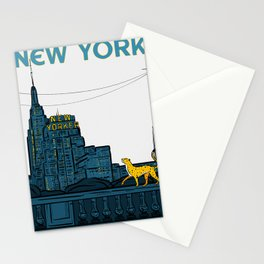 New York Travel Poster - New Yorker Stationery Cards
