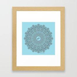 Tribal Hammerhead Shark Mandala Framed Art Print