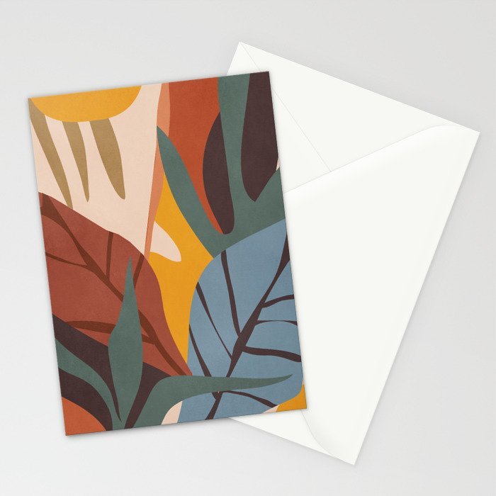 Abstract Art Jungle Stationery Cards