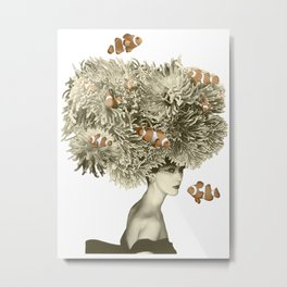 Her Clownfish Hat turned some heads Metal Print