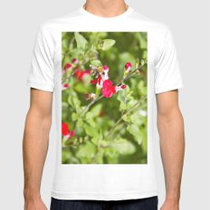 Busy bee in the flowers Mens Fitted Tee MEDIUM White
