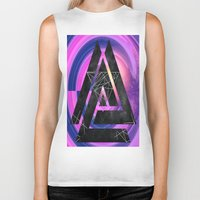 outer space Biker Tanks featuring fun in outer space by Healinglove art products