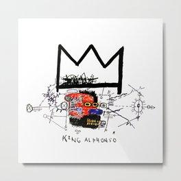 Jean-Michel Basquiat - King Alphonso 1983 Metal Print