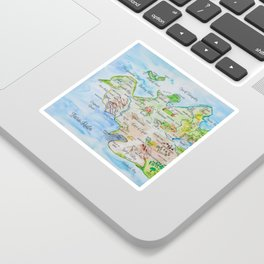 Map of the Faerie Realm Sticker