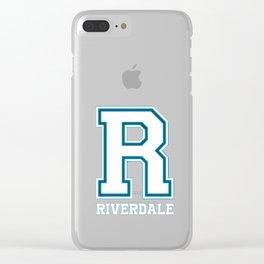 R - Riverdale T-Shirt Clear iPhone Case