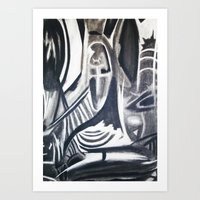Reflections and Distortion Three Art Print