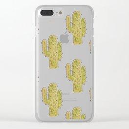 Cactus | Watercolor | Southwest Decor Pattern Clear iPhone Case