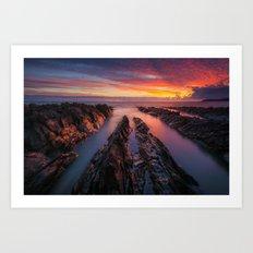 Ireland red sunrise(RR 168) Art Print