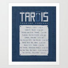 The Doctor's TARDIS: Touring Company Art Print