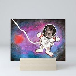 Scottie Dog Astronaut - Watercolor Galaxy Mini Art Print
