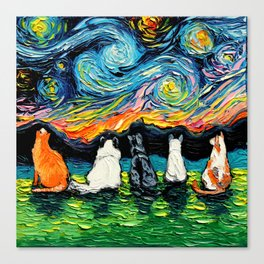 Starry Cats Canvas Print