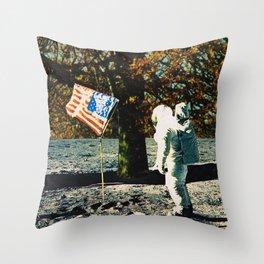 the first man under a tree Throw Pillow