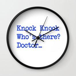Knock-Knock 3 Wall Clock