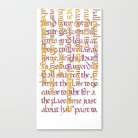 calligraphy Canvas Prints featuring Calligraphy Gothic by Cami Landia