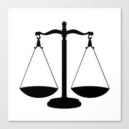 Balance Scales Canvas Print