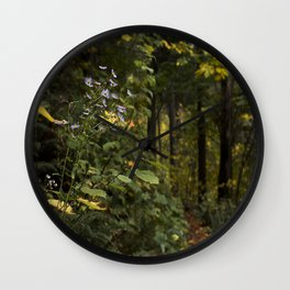 Flower on the Path Wall Clock