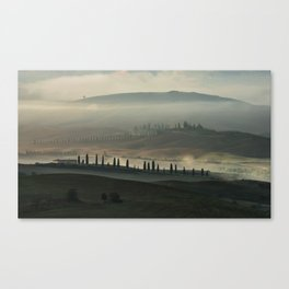 Magical morning in Toscany Canvas Print