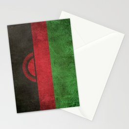 Old and Worn Distressed Vintage Flag of Malawi Stationery Cards