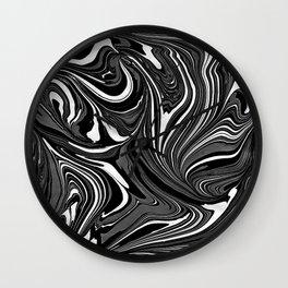 Black White Grey Marble Wall Clock