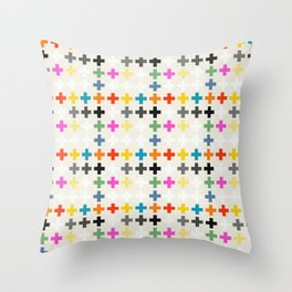 Cross Pattern Throw Pillow