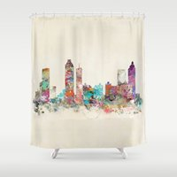 atlanta Shower Curtains featuring atlanta georgia skyline by bri.buckley