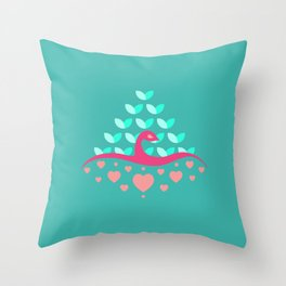 Be Beautiful - Be Colourful Peacock Throw Pillow