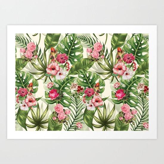 Tropicana Pattern Art Print