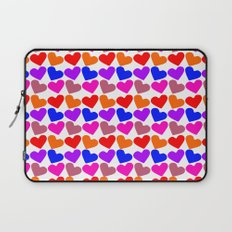 Colorful Hearts Pattern Laptop Sleeve