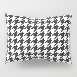 Black and white houndstooth pattern Pillow Sham