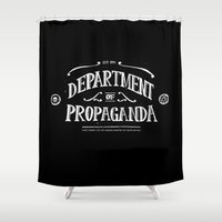 propaganda Shower Curtains featuring Department of Propaganda by Department of Propaganda