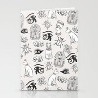 egyptian Stationery Cards featuring Egyptian by Abby Galloway