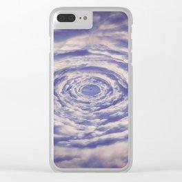 Round Clouds Clear iPhone Case